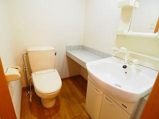 洗髪洗面化粧台&暖房便座タイプのトイレ
