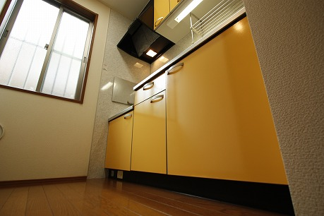 綺麗なキッチンで・・・