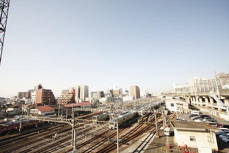 眺望もいい感じですよ~ 電車好きにはたまらない・・・♡