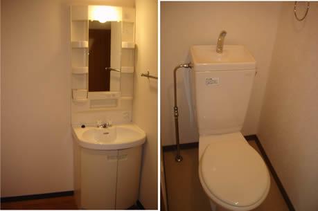 シャンプードレッサー付き洗面台・トイレ