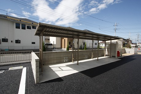 屋根付駐輪場♪