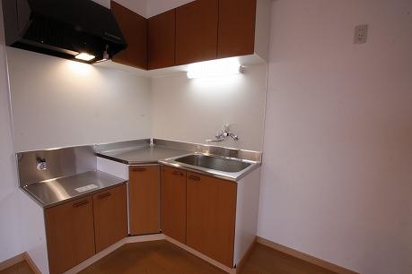 L字型のキッチン!冷蔵庫などスペースも余裕・・・  ~反転になります~